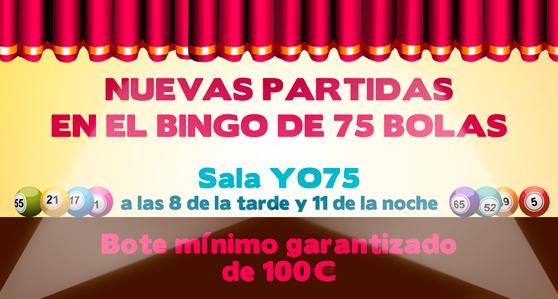 Partidas de Bingo de 75 bolas