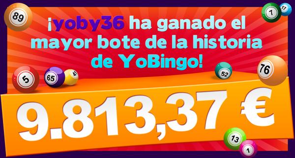 Bote acumulado YoBingo