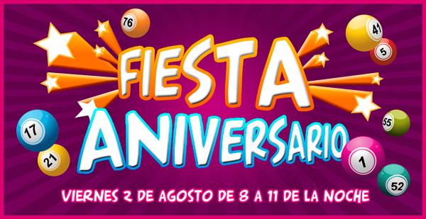 Fiesta aniversario YoBingo