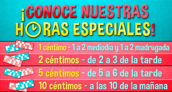 Horas especiales en YoBingo