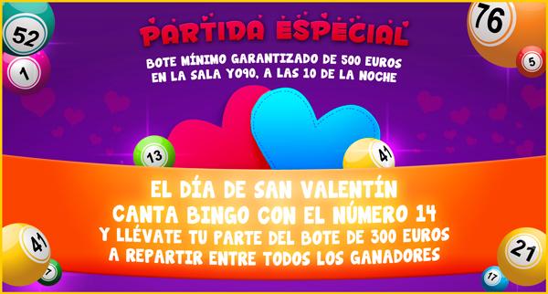 Promo San Valentin YoBingo