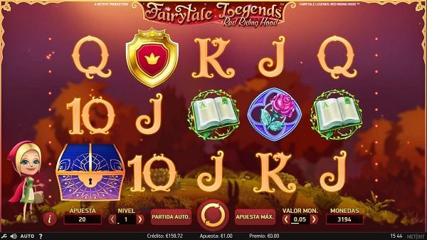 Nuevos juegos de slots - Caperucita Roja
