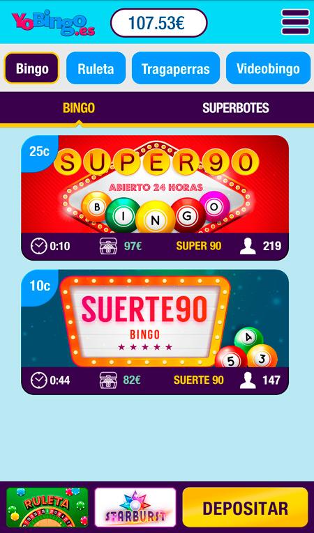 Salas de bingo online