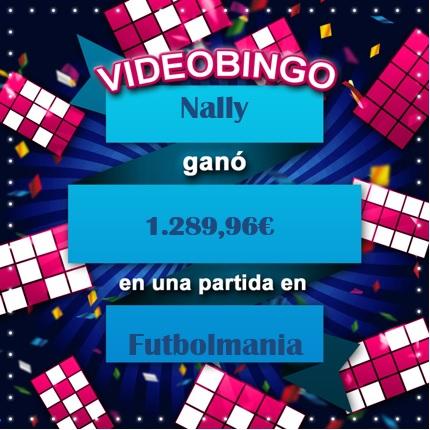 Nally ganadora del VideoBingo Futbolmania