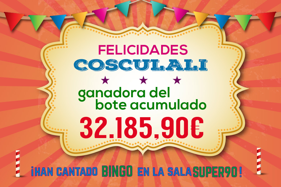 Cosculali ganó el bote acumulado de SUPER90