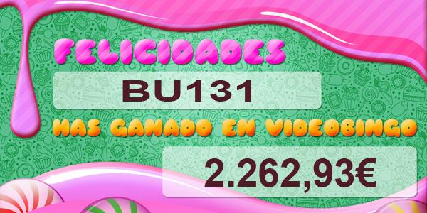 BU131 ganador del VideoBingo Candy