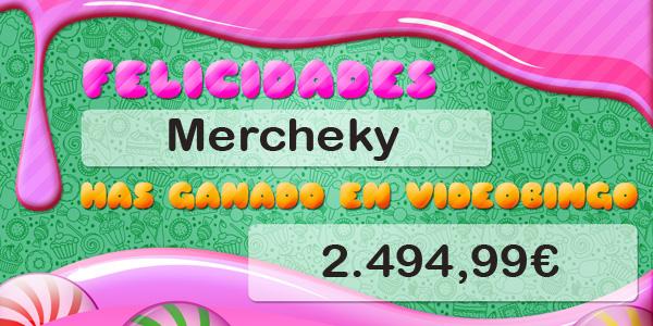 Mercheki gana el bote acumulado del VideoBingo Candy