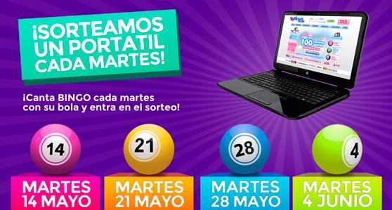 Promoción portátiles YoBingo