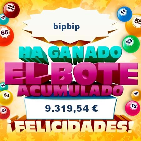 Bote acumulado de Bingo online