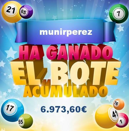 Ganador Bote Bingo online