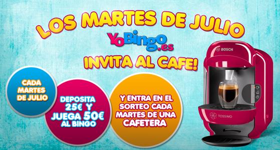 Los martes de julio YoBingo invita al café