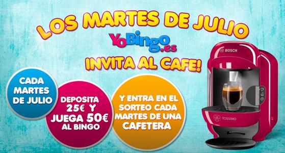 Los martes de julio YoBingo invita al cafe