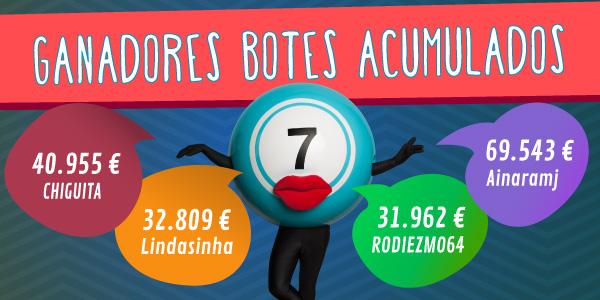 premios de botes acumulados