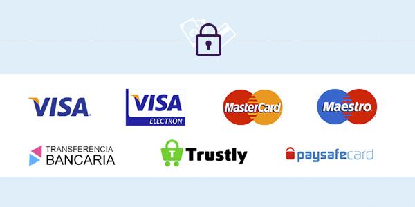 Depósitos seguros con tarjeta en Yobingo.es