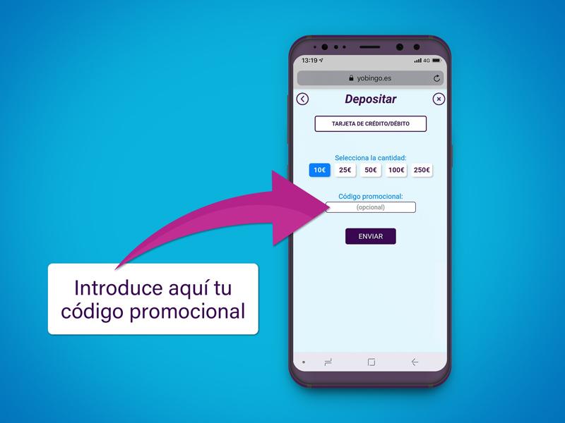 Cómo usar los códigos promocionales de YoBingo