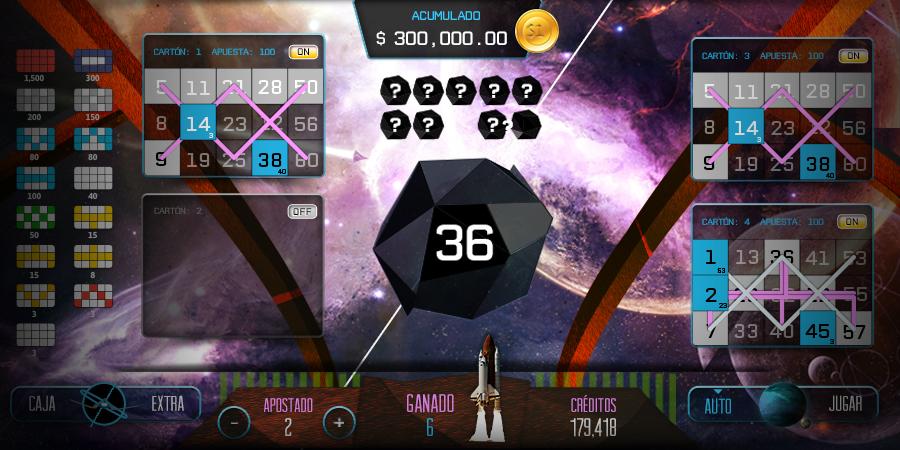 VideoBingo Bingo Espacial