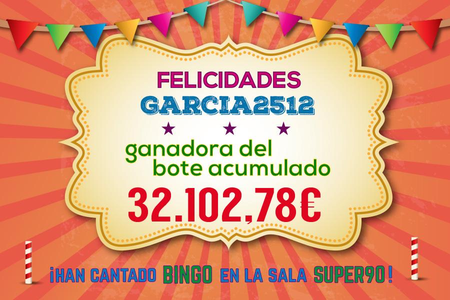 Garcia2512 ha cantado bingo en la sala SUPER90
