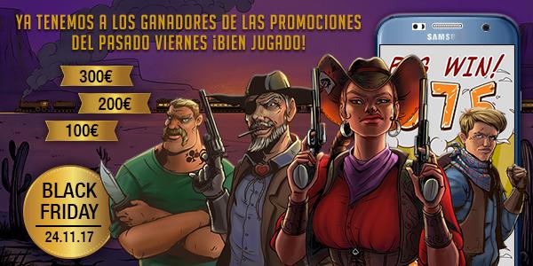 Ganadores promoción especial Black Friday