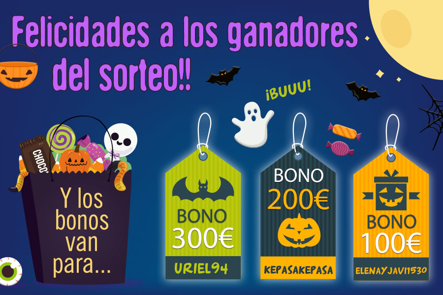Ganadores promoción especial Halloween