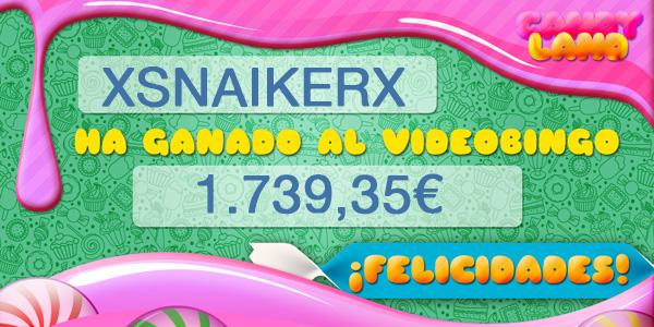 Xsnaikerx gana el bote acumulado del VideoBingo Candy