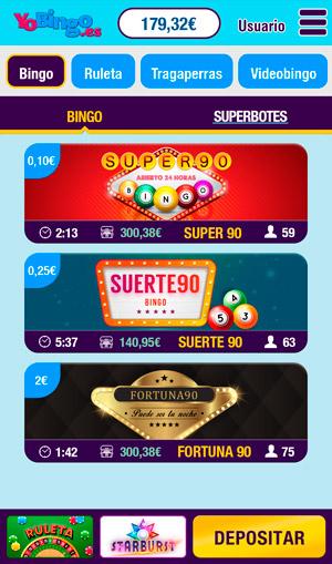 Bingo online en el movil
