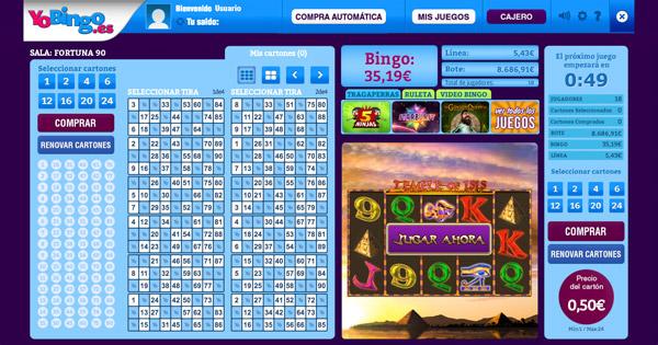 Sala bingo online Fortuna