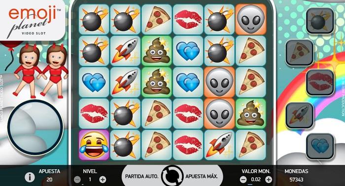 Juego de slots Emoji Planet