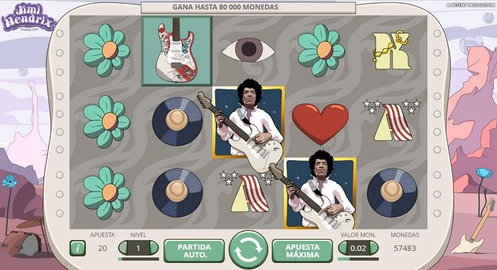 Juego de tragaperras Jimi Hendrix