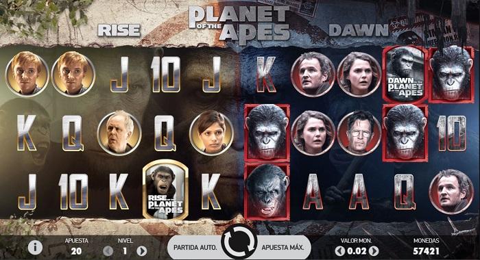 Tragaperras El planeta de los simios