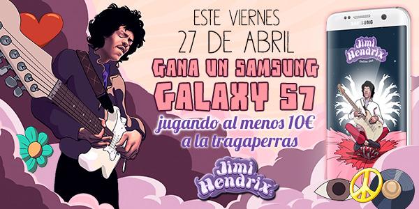 Participa en la promoción del juego de tragaperras Jimi Hendrix