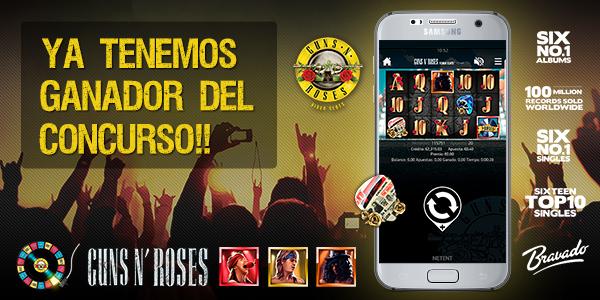 Promoción especial Tragaperras Guns N' Roses