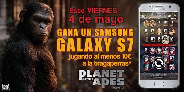 Participa en la promoción del juego de tragaperras El planeta de los Simios