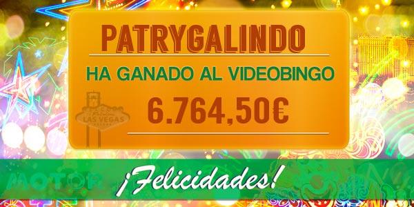Patrygalindo ganó el bote acumulado de Bingo Las Vegas