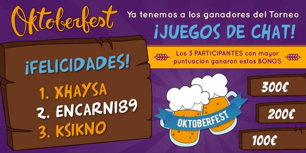 Ganadores del Oktoberfest de YoBingo