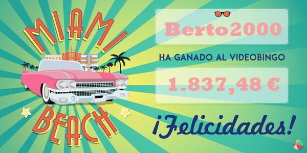 Bote acumulado del VideoBingo Miami Beach