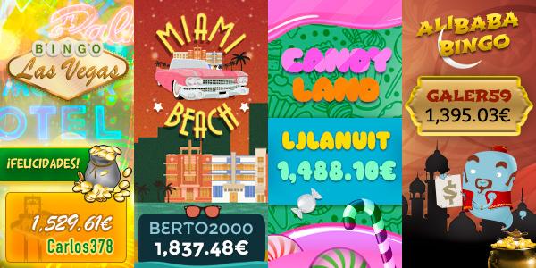 Ganadores botes acumulados VideoBingos