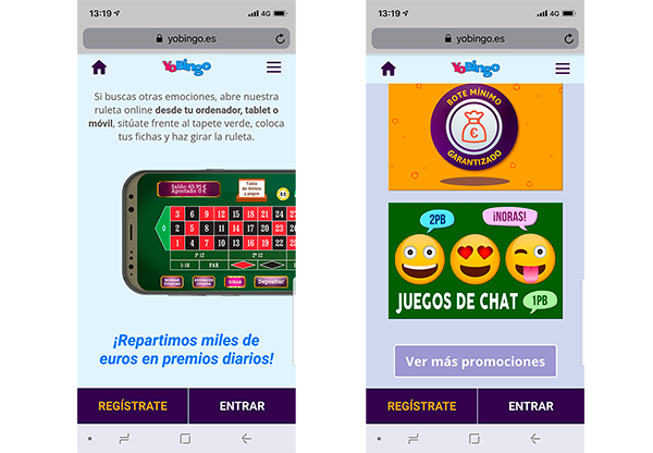 Juegos Online en YoBingo