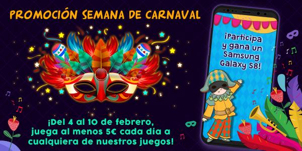Celebra los carnavales en YoBingo