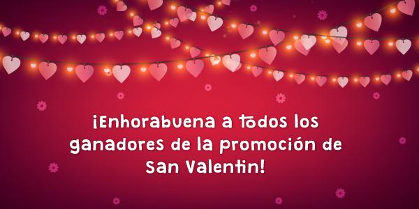 Ganadores promoción especial San Valentín