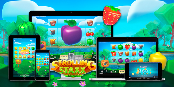 Juego de tragaperras Strolling Stax: Cubic Fruits