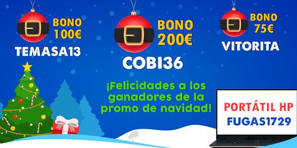 Ganadores promoción especial Navidad 2019