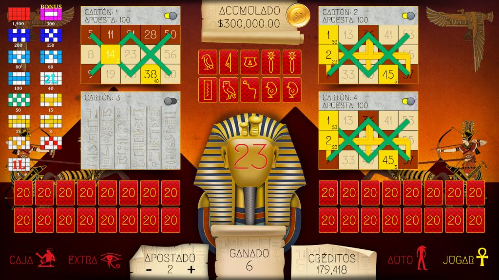 videobingo-faraon-in-game