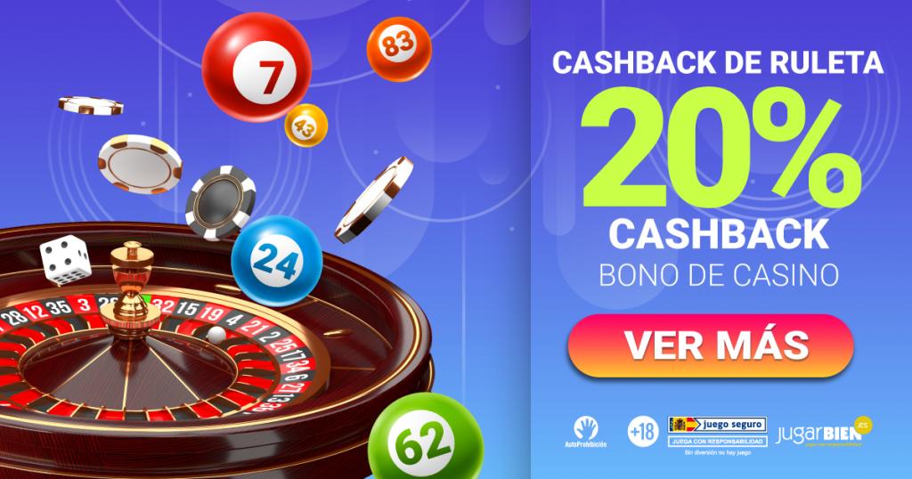 20% cashback ruleta yobingo