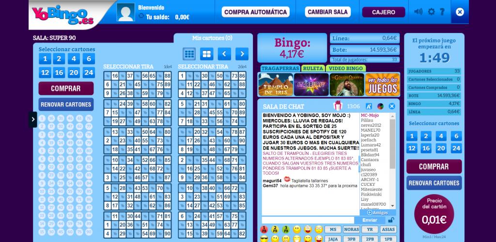sala bingo 90 bolas yobingo