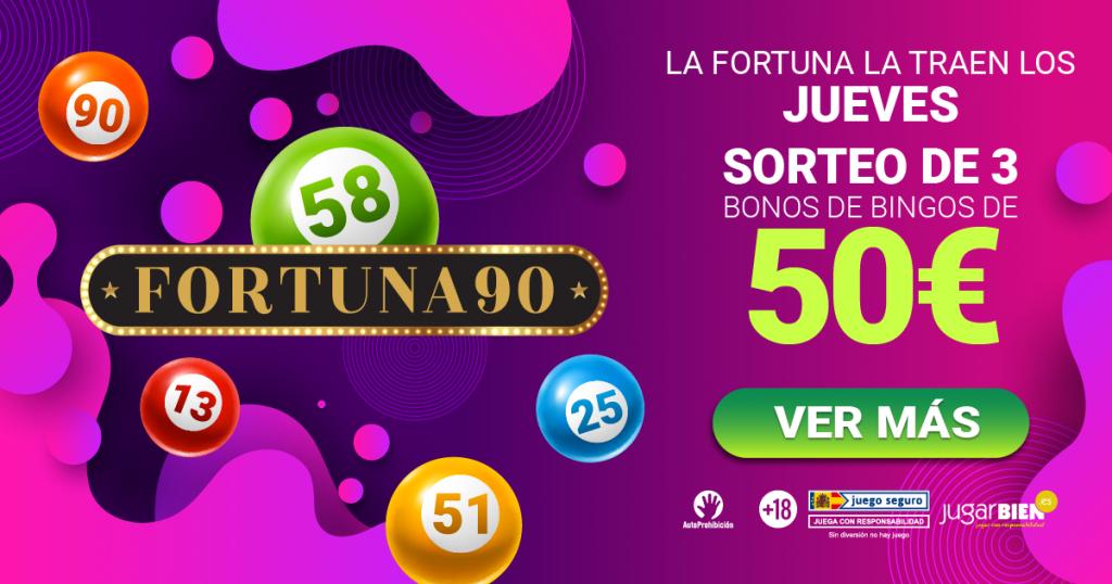 FORTUNA90 SORTEO BONOS BINGO YOBINGO