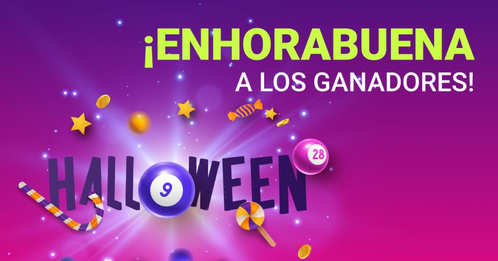 Enhorabuena ganadores Halloween YoBingo