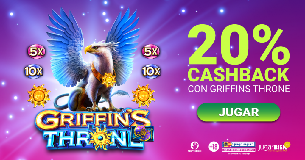 20% cashback Griffins Throne