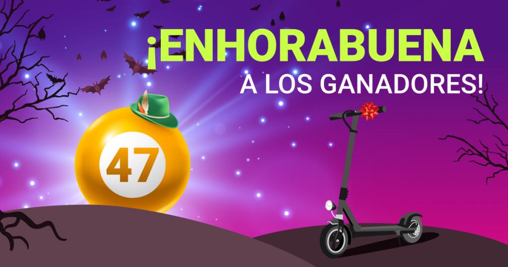 Enhorabuena ganadores torneo bienvenido octubre de YoBingo